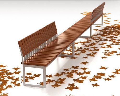 Panchina design in legno e metallo (con schienale) ARA by Marta Ferraz & Paula Cabrera Tecnología & Diseño Cabanes