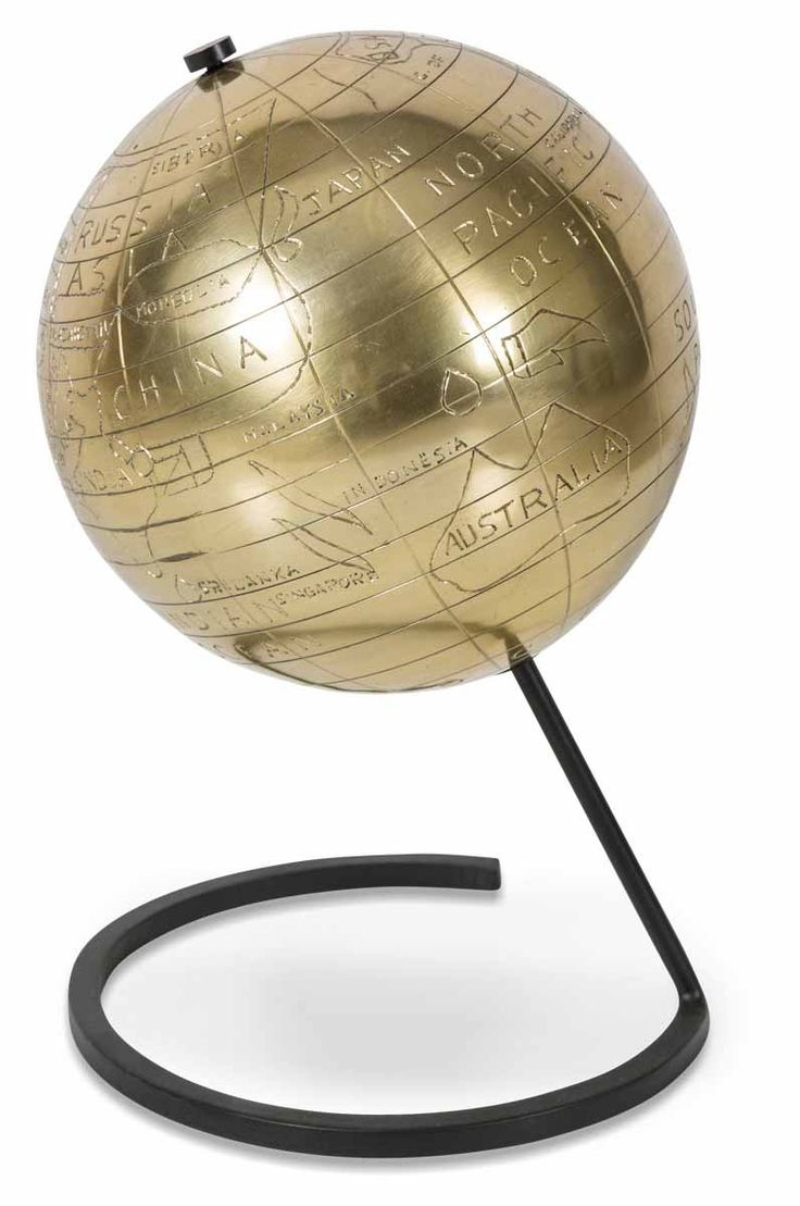 Aluminium Globe on Stand