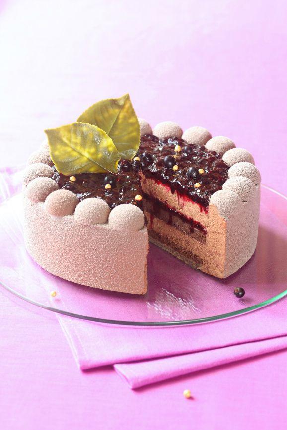 Verdade de sabor: Шоколадный торт-мусс с чёрной смородиной (без желатина) / Torta mousse de chocolate e groselha preta (sem gelatina)