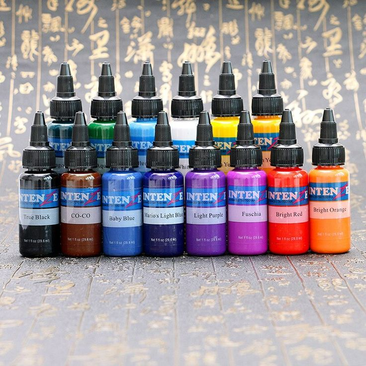 New Professional Tattoo Ink Set 30ml / Bottle Tattoo Pigment Set 14 pieces Permanent Makeup Paint Body Painting Tattoo Ink