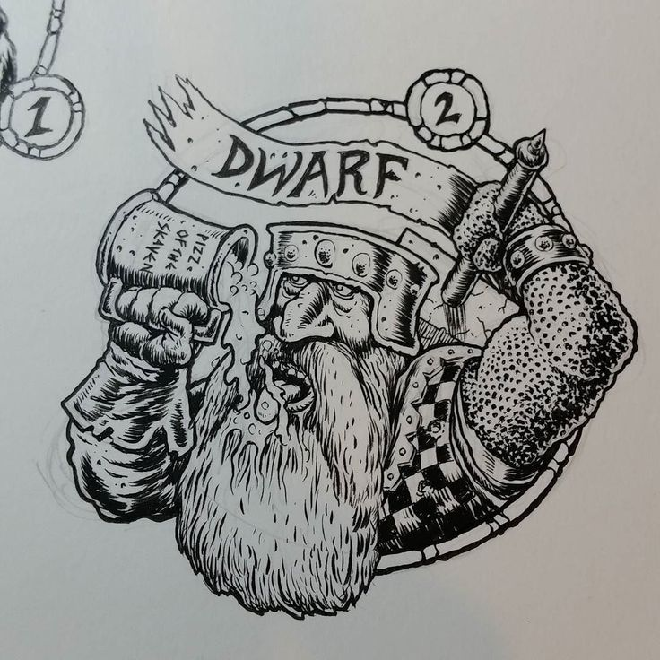 Shared by artofnerdgore #heroquest #microhobbit (o) http://ift.tt/2pkjPnF: Dwarf  First into battle and first at the bar this mean little fucker can drink a minotaur under the table and arm wrestle a stone troll. Useful on dungeon treks but prone to chasing aftet shiny things. For @xpalpatinex  #number2 #zeroquest  #warhammer #oldhammer #oldschoolroleplaying #fantasy #boozeandhammer #pizzoftheskaven #illustration #ink #brush #nerdgore