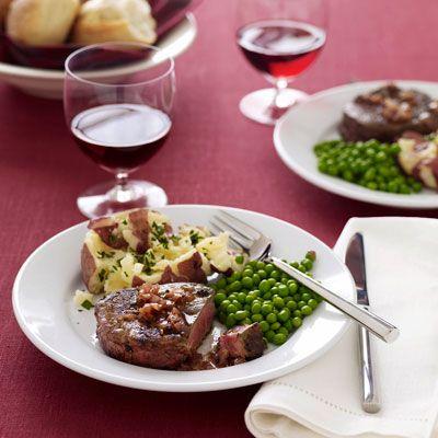 Beef Tenderloin with Red Wine Sauce #FiletMignon