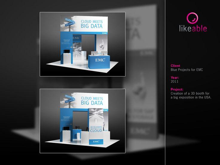 #LikeableDesign #MartijnKoudijs #3DBoothDesign #EMC #BlueProjects www.likeable.nl
