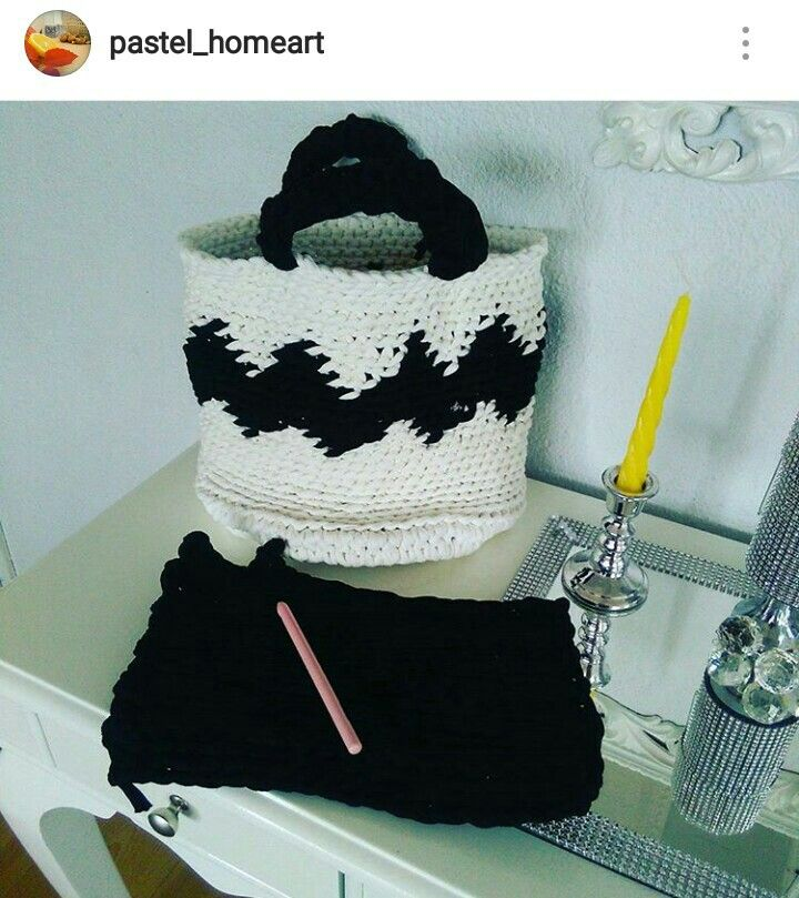 Penye ipten çanta modeli