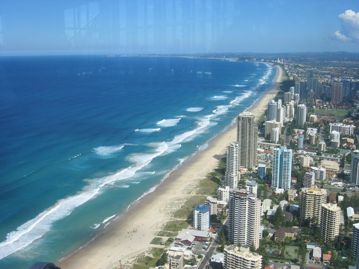 Taken from top of Q1 tower, Surfers Paradise, looking south along Broadbeach