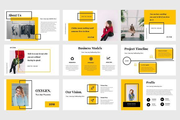 oxygen powerpoint template by tmint creative on creativemarket
