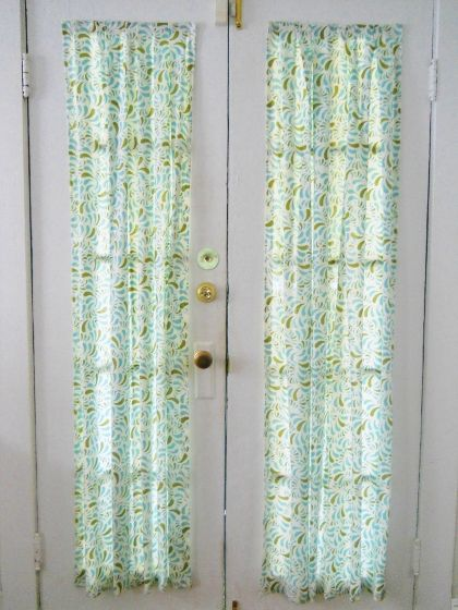 How to put up a door curtain without a curtain rod - velcro, baby! //LivinigWellOnTheCheap