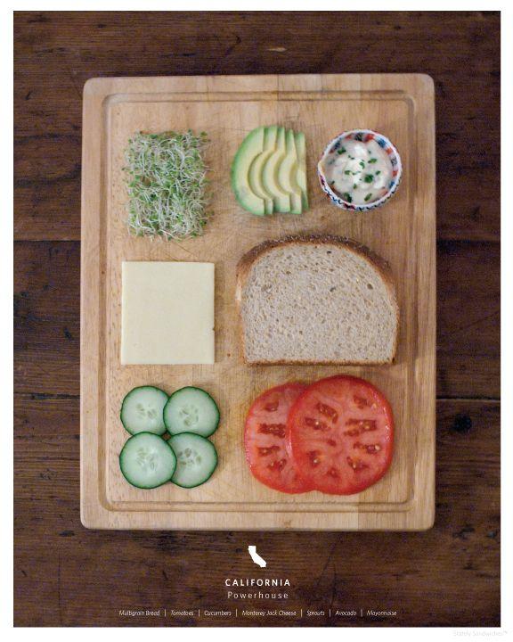 Un sanwich por cada estado de EEUU