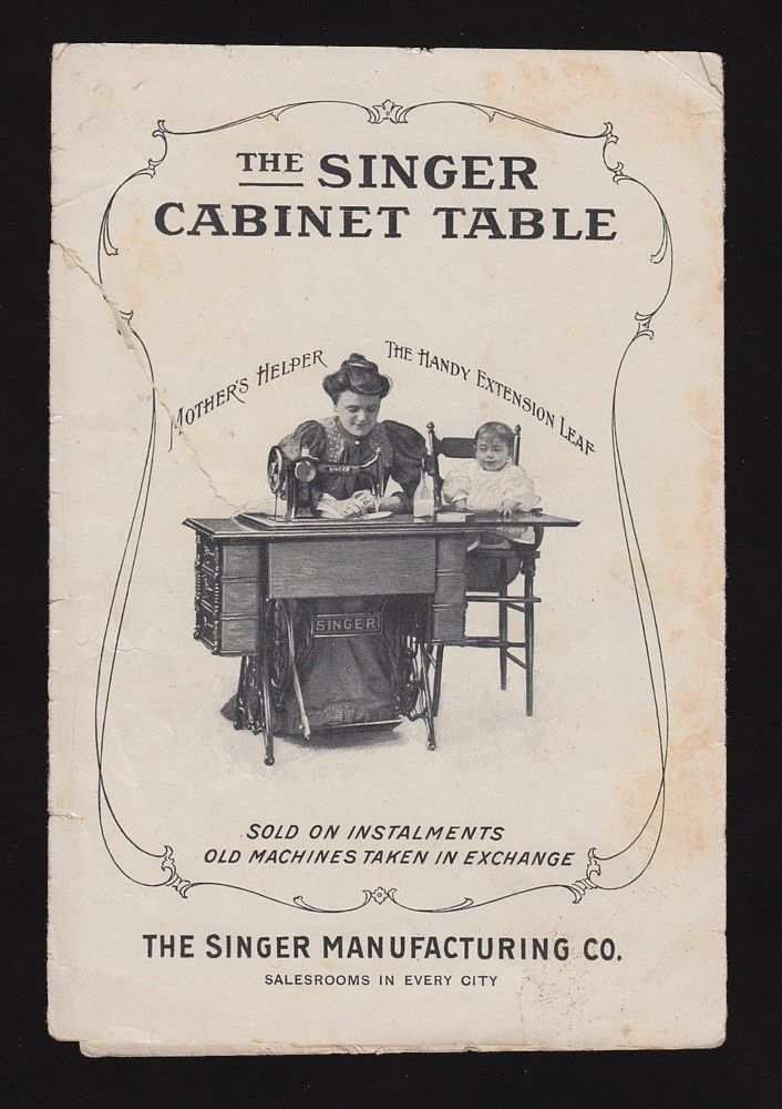 Victorian Trade Card Singer Sewing Machine Automatic Cabinet Table   eBay
