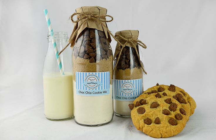 Choc Chip Milk Bottle Mixers from Sweet Health. http://www.sweethealth.com.au