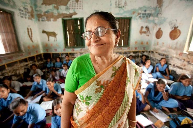 Teacher Suda Rani teaches the 3rd grade.  Esther Havens - Bihar, India