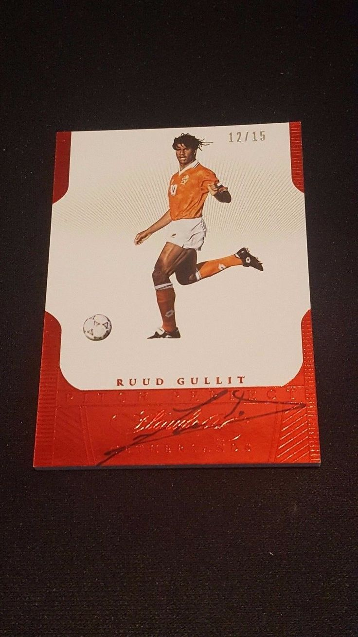 Soccer Cards 183444: 2016 Flawless Soccer Ruud Gullit Pitch Perfect On Card Auto 12 15 Netherlands -> BUY IT NOW ONLY: $149.99 on eBay!