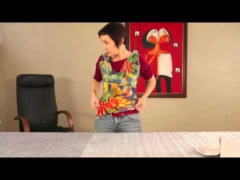 Мокрое валяние: блузка из шерсти