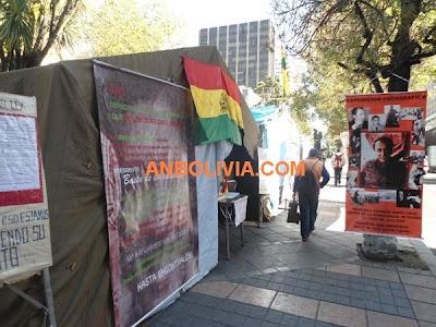 AGENCIA DE NOTICIAS DE BOLIVIA: VICTIMAS DE LA DICTADURA BOLIVIANA CONTINÚAN EN VIGILIA EXIGIENDO EL RESARCIMIENTO DE DAÑOS (+FOTOS)