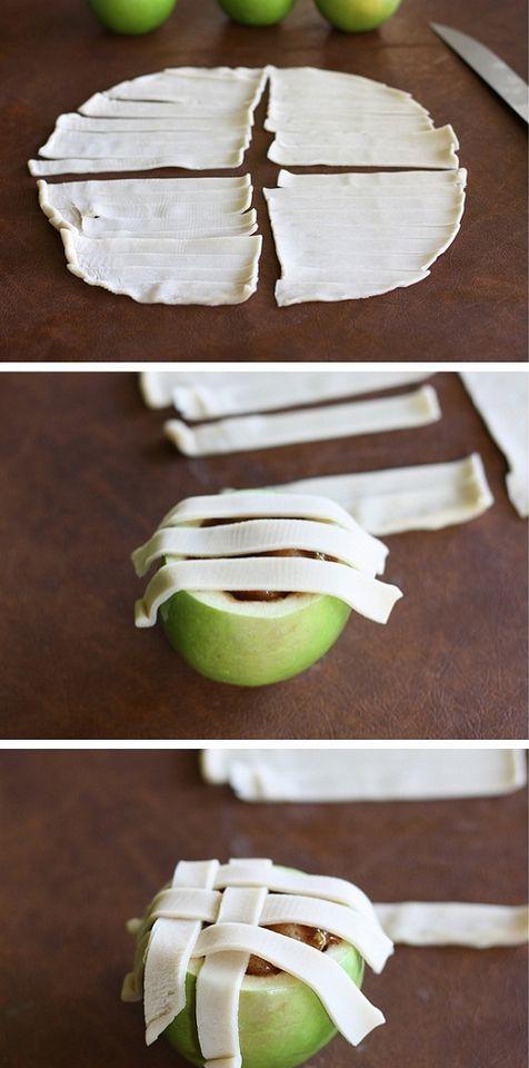 Apple Pies baked in apples-no crust