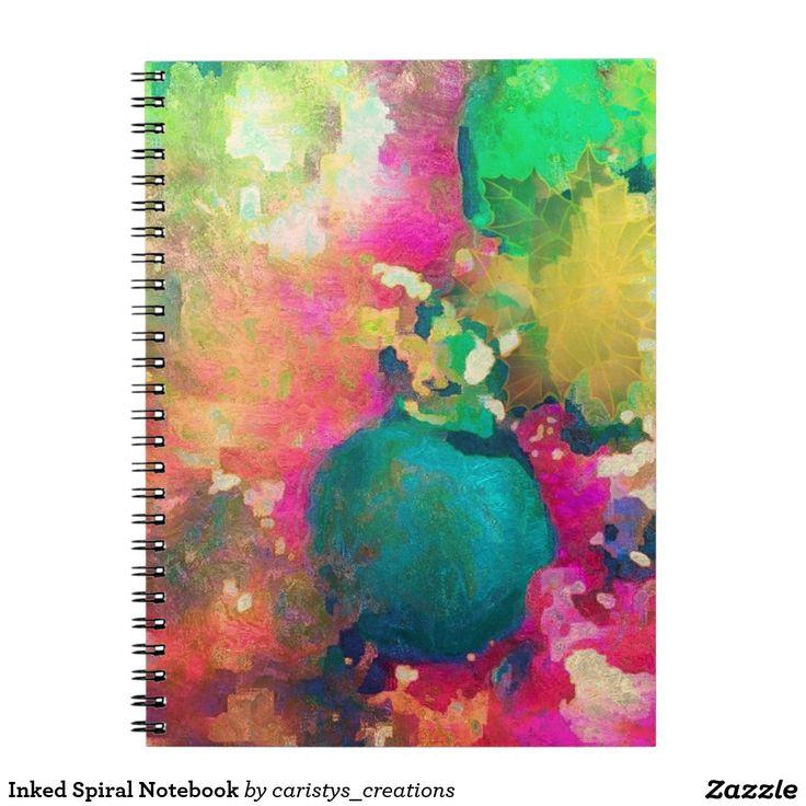 Inked Spiral Notebook