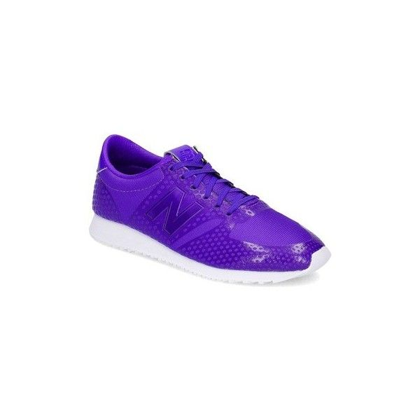 New Balance WL420DFJ Shoes (Trainers) ($160) ❤ liked on Polyvore featuring shoes, sneakers, purple, trainers, women, new balance, purple sneakers, new balance sneakers, new balance trainers and new balance shoes