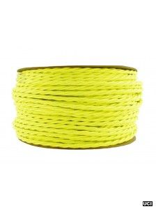 NEON YELLOW | fabric lighting flex cable | TWIST