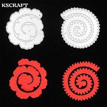 KSCRAFT 2 unid Flores metal troqueladora scrapbooking carpeta de grabación en relieve juego para fustella big shot sizzix muere máquina de corte(China (Mainland))