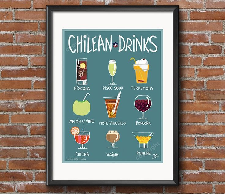 Afiche chilean Drinks - Bendito