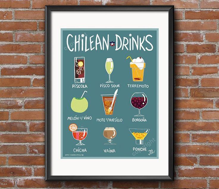 Afiche chilean Drinks - Bendito