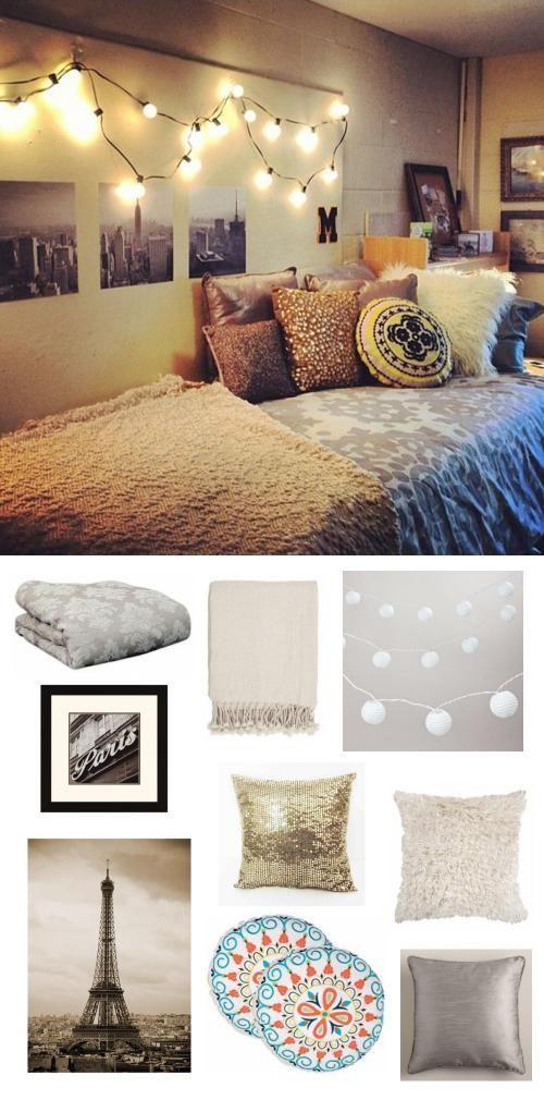 city love. #dorm #college #bedroom #adoredecor