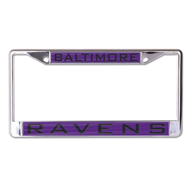 Baltimore Ravens License Plate Frame - Inlaid