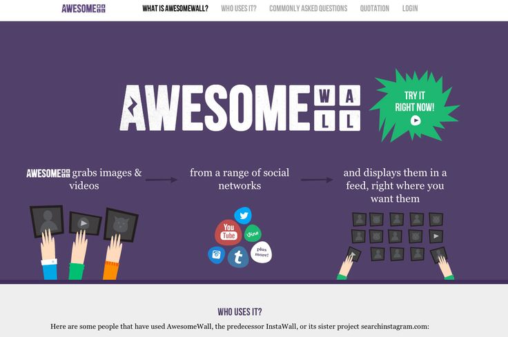 Awesomewall - Purple Example
