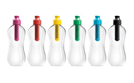 Bobble water bottle from Green Depot has built-in water filter. $9.95
