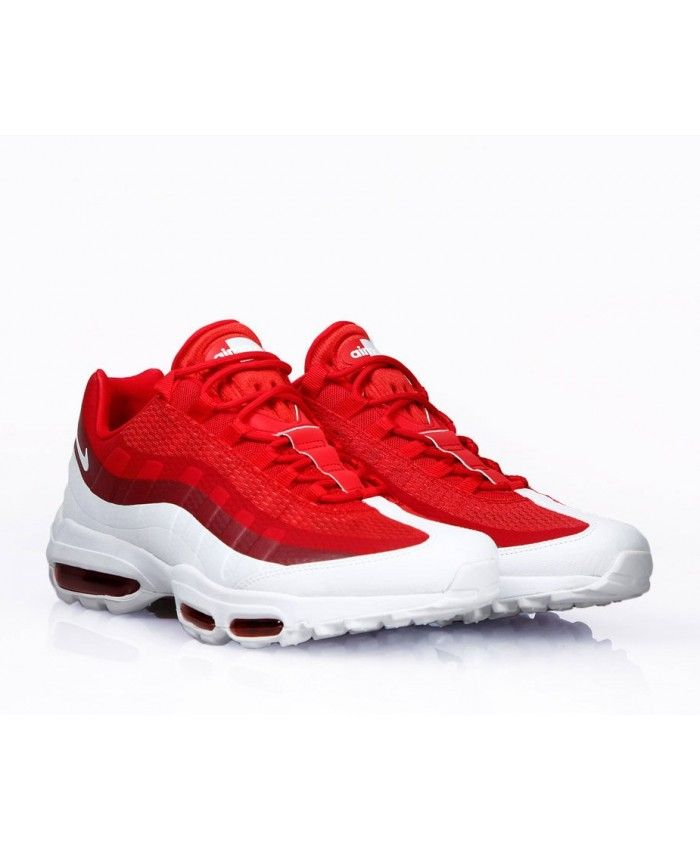 buy online 346cc 36df5 Nike Air Max 95 Ultra Essential University Red White Shoes