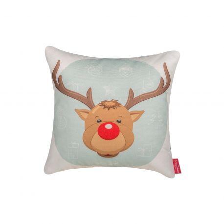 Rudolf the Reindeer Pillow #pillow #reindeer #rudolf #christmas #santa #present #interiordesign #homedeco #charity #donation