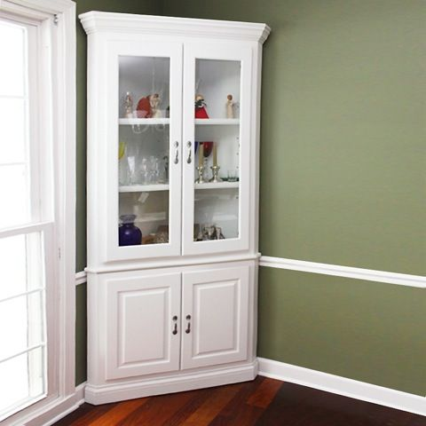 white corner cabinet for dining room | Pin on DIY & Crafts