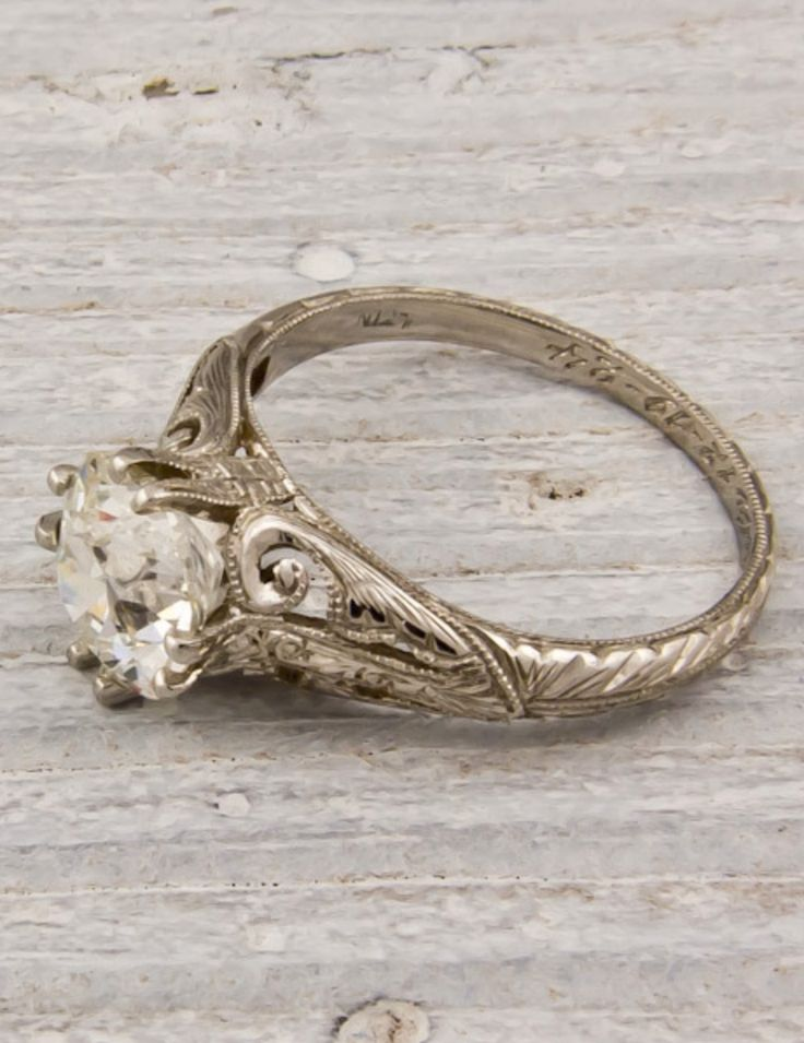 Vintage diamond ring - this has the date engraved on the inside - either first date or wedding date? regardless it dates it 12-19-1924  amazing!