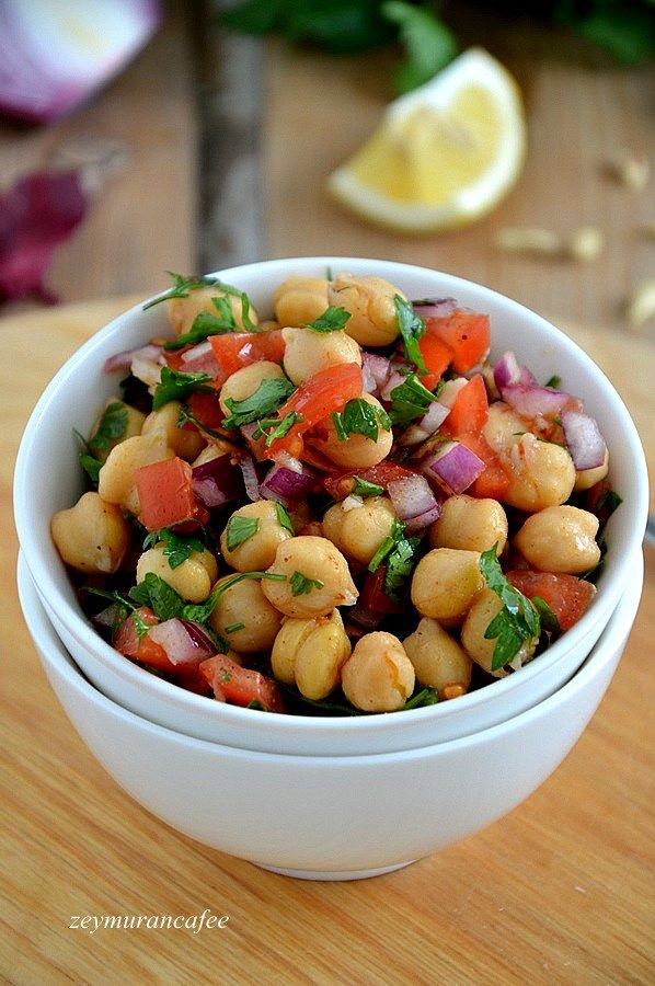 Nohut Salatası Tarifi ve Yapılışı, nohut salatası, salata tarifleri, salata, salad, salad recipes