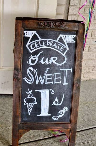 """Twin's """"sweet 1's"""" first birthday party"""