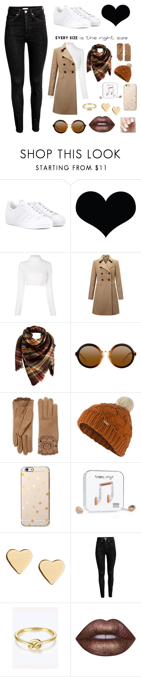 """Untitled #43"" by hilaryscragg ❤ liked on Polyvore featuring adidas Originals, Brika, Balmain, Miss Selfridge, Peach Couture, Burberry, Barbour, Happy Plugs, Lipsy and Lime Crime"
