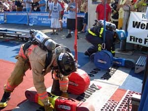 firefighter combat challenge. In California, we used to compete in firefighter muster before Scott came out with this.
