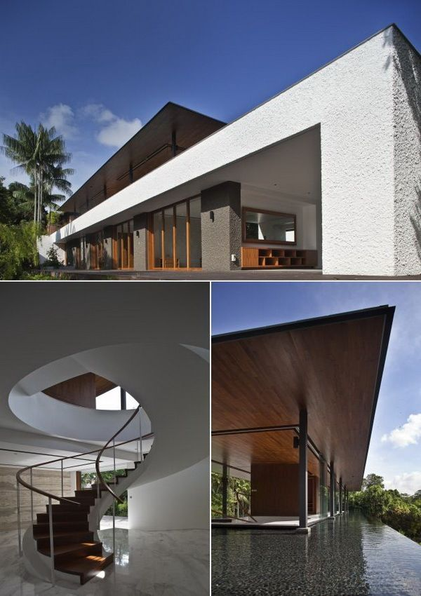 Singapore based wallflower architecture design have completed the water cooled house