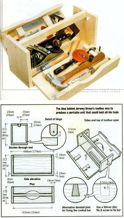 DIY Wood Tool Box - Workshop Solutions Projects, Tips and Tricks | WoodArchivist.com