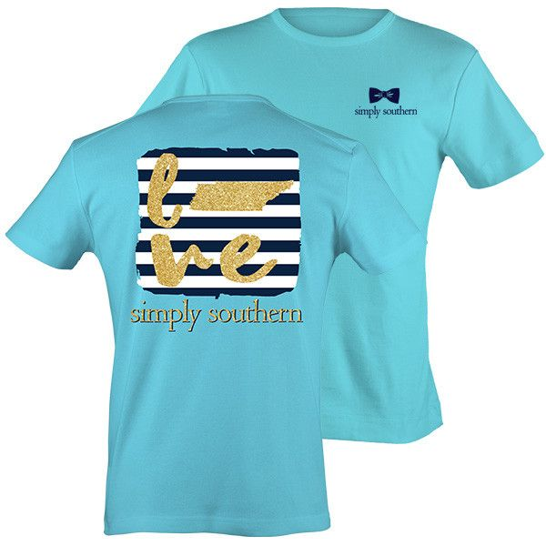 Simply Southern Tennessee Chevron Preppy State Pattern Girlie Bright T Shirt Available in sizes- S,M,L,XL,2X