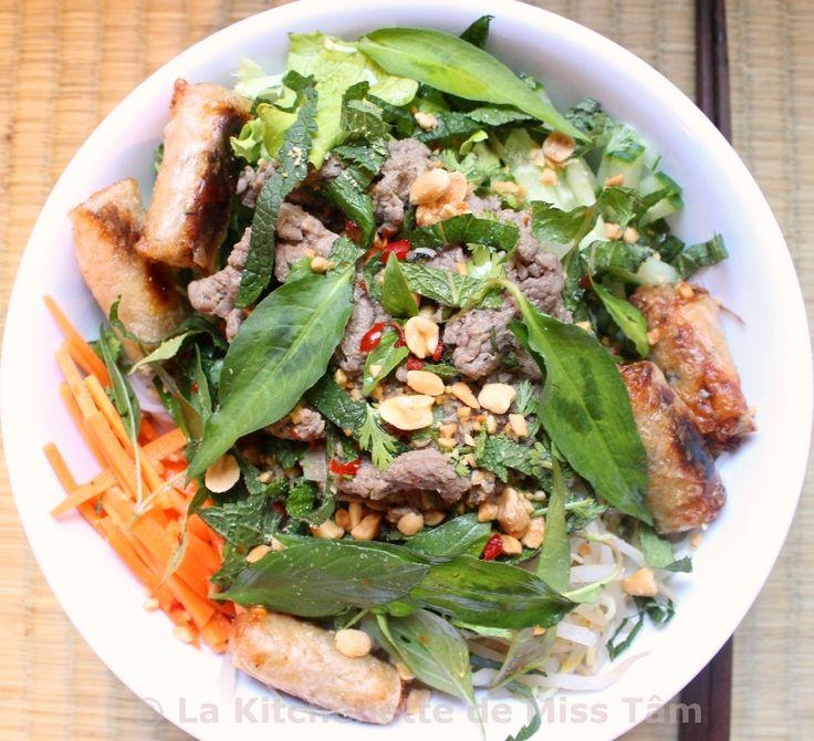 Bo Bun (Vermicelles de riz au boeuf sauté) ou Bò bún / Bún bò nam bộ | La kitchenette de Miss TâmLa kitchenette de Miss Tâm