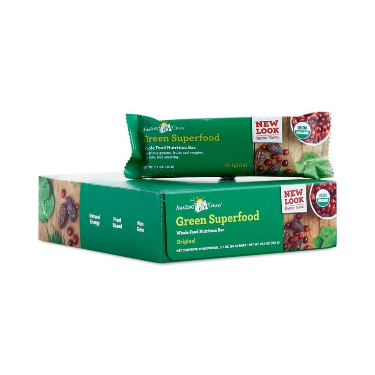 Amazing Grass Original Green Superfood Bars are the most convenient way to add a tasty dose of vitamins and minerals to your diet.