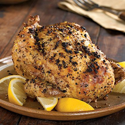 Lemon Pepper Chicken Rotisserie....YUM! :)