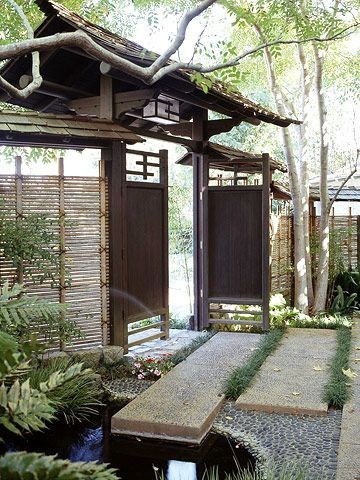 Gardens the doors and bamboo fence on pinterest for Make a japanese garden gate