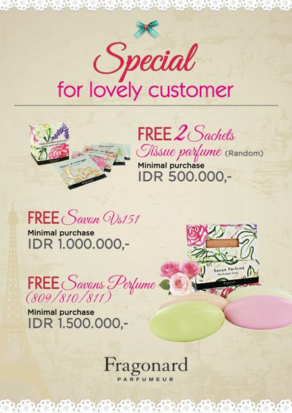 2014 April design for FRAGONARD Indonesia. @LovelyDay Story