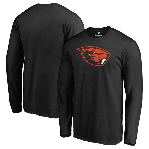 Oregon State Beavers Fanatics Branded Big & Tall Primary Team Logo Long Sleeve T-Shirt - Black - $29.99