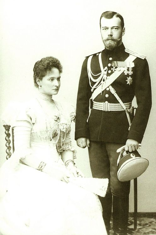 Nicholas II and Alexandra: The last czar and his wife; they were murdered by the Bolsheviks along with their children