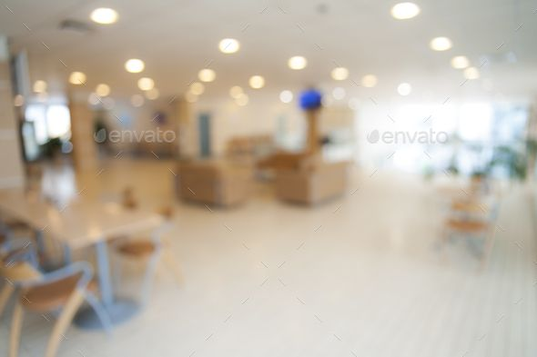 Blurred Office Background Image Abstract Interior Office