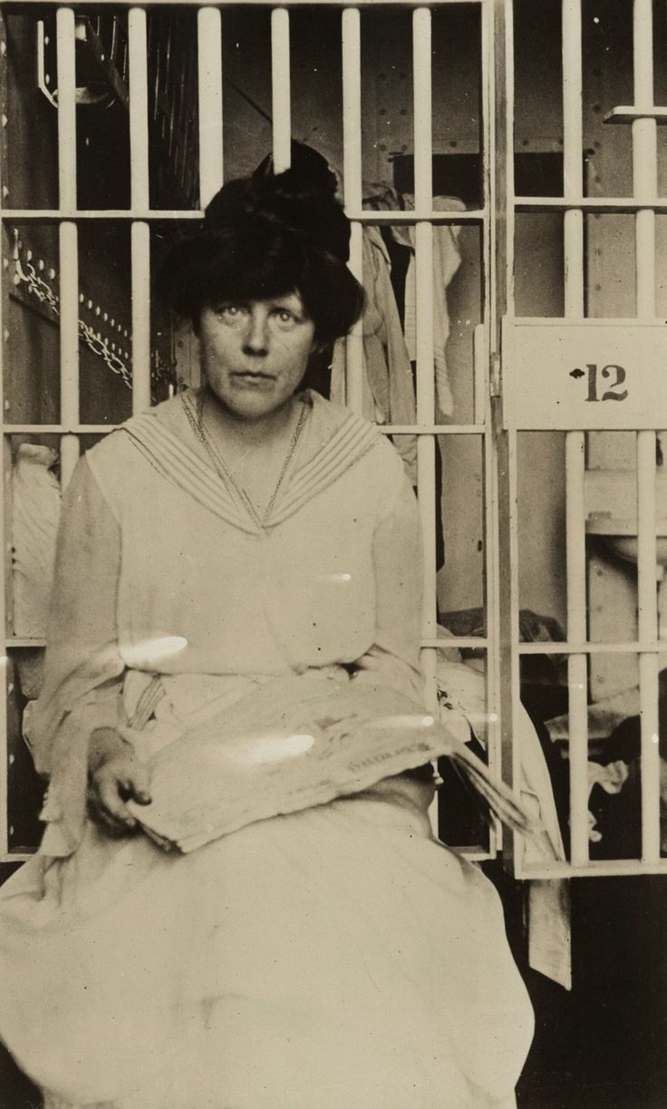 Night of Terror: Lucy Burns hands were chained to the cell bars above her head and left hanging! All through the night, bleeding and gasping for air. (1917)