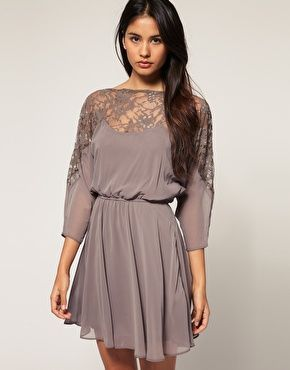 ASOS Dress with Lace Top: Party Dresses, Lace Tops, Summer Outfit, Bridesmaid Dresses, Simple Beauty, Asos Dresses, Clothing Styles, Lace Dresses, Taupe Dresses